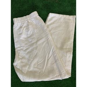 Gap white Pant 55%linen 49%cotton size S